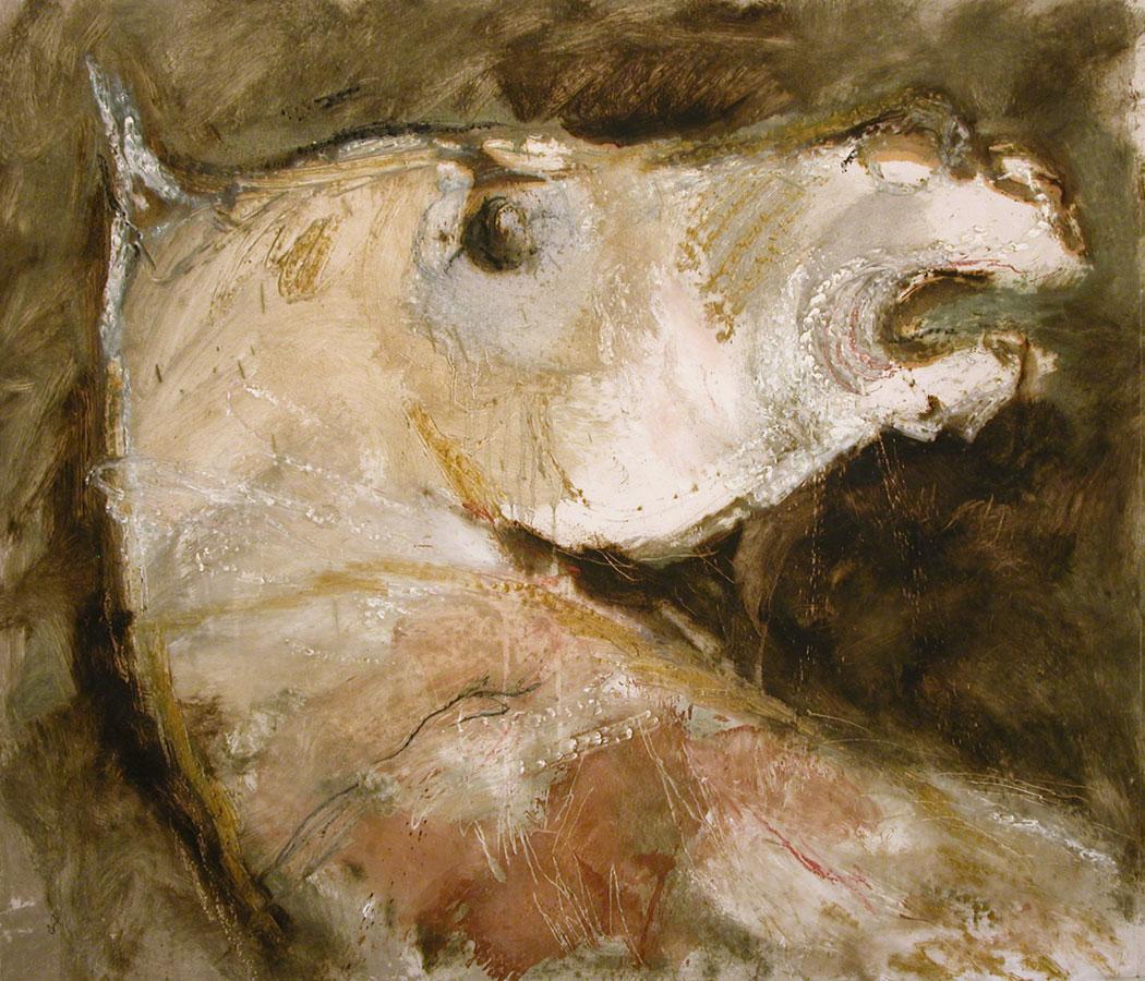 GRIGIO - terre su tela, cm 115 x 135
